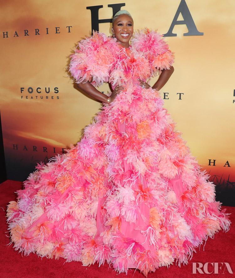 Cynthia Erivo  In Marc Jacobs - 'Harriet' LA Premiere