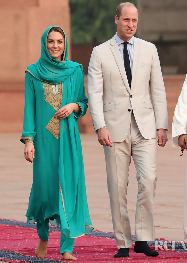 Day 4: Catherine, Duchess of Cambridge Wears Two New Looks In Lahore