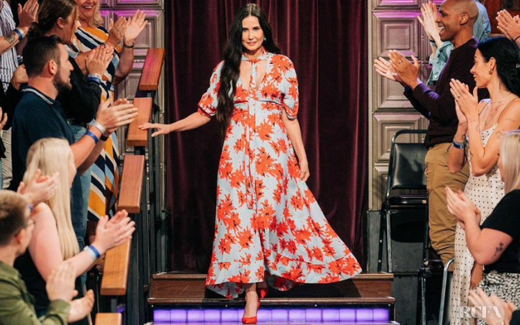 Demi Moore In Proenza Schouler - The Late Late Show with James Corden