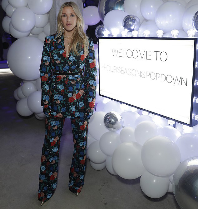 Ellie Goulding Shows Her Flare For Florals At The Four Seasons Pop Down London