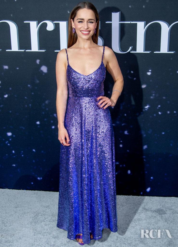 Emilia Clark Was Brilliant In Blue Valentino For The 'Last Christmas' New York Premiere