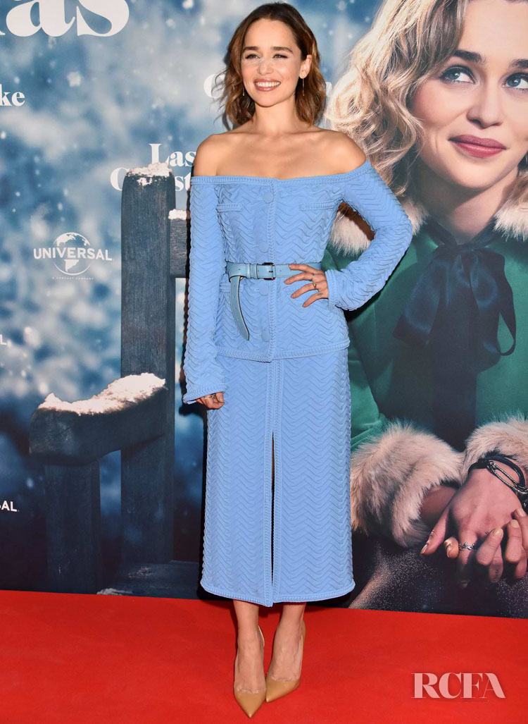 Emilia Clarke Wore Marco de Vincenzo To The 'Last Christmas' Berlin Photocall