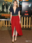 Emma Stone Was True To Form In Louis Vuitton For The 'Zombieland Double Tap' LA Premiere