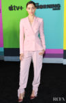 Emmy Rossum Was Pretty In Pink For Apple TV+'s 'The Morning Show' World Premiere