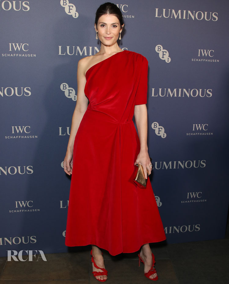Gemma Arterton Was Ravishing In Red For The BFI Luminous Fundraising Gala