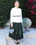 Greta Gerwig Is A Lady Who Lunches In Dior For The Honorary Oscar Lina Wertmuller's Celebration