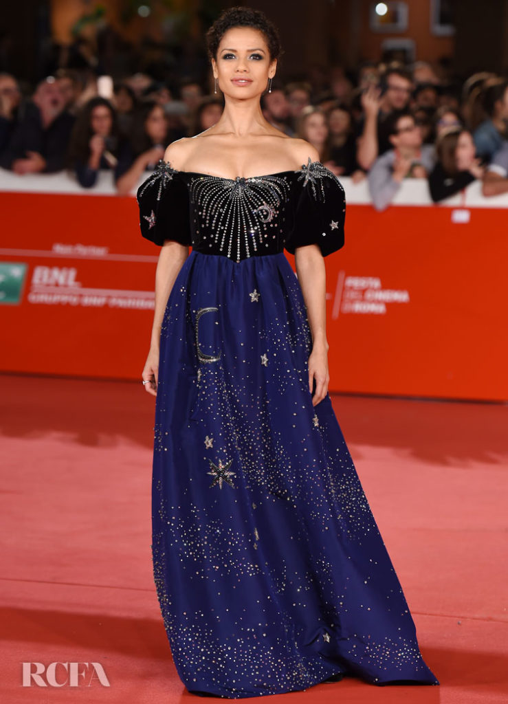 Gugu Mbatha-Raw Gets Her Groove Back In Gucci For The 'Motherless Brooklyn' Rome Film Festival Premiere