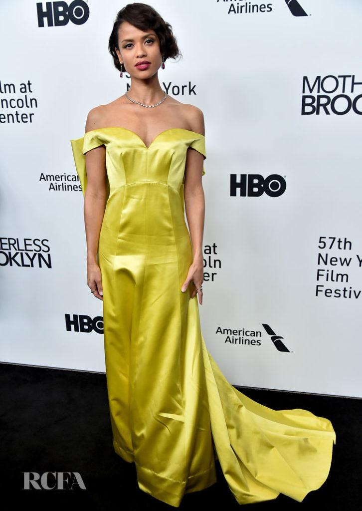Gugu Mbatha-Raw Goes Bright Yellow For The 'Motherless Brooklyn' New York Film Festival Premiere
