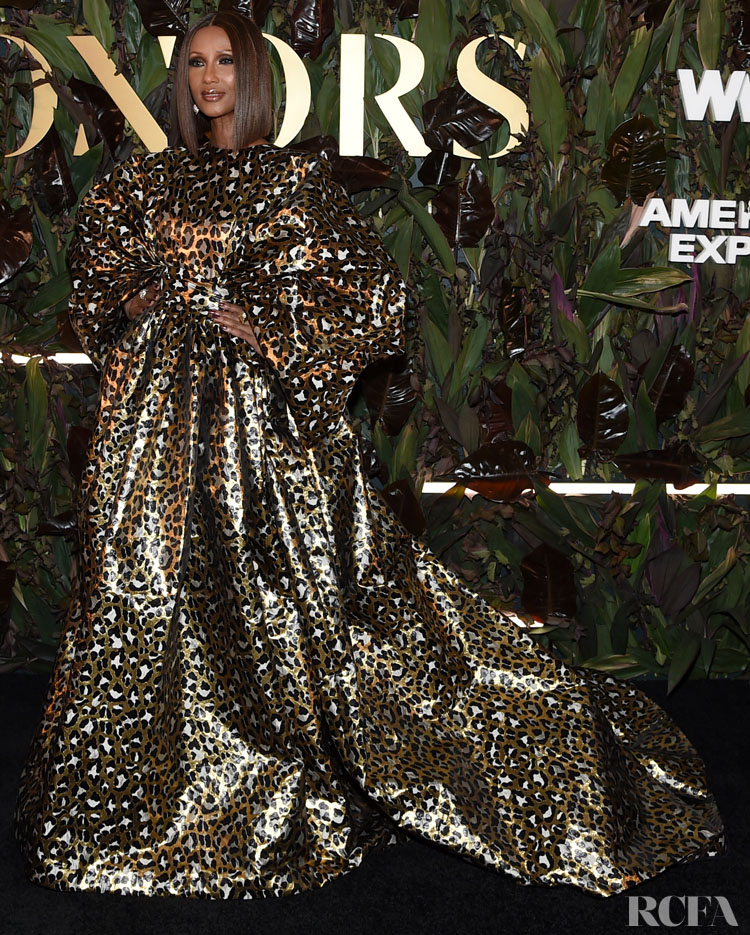 Iman's Love For Animal Print Continues At The 2019 WWD Honors