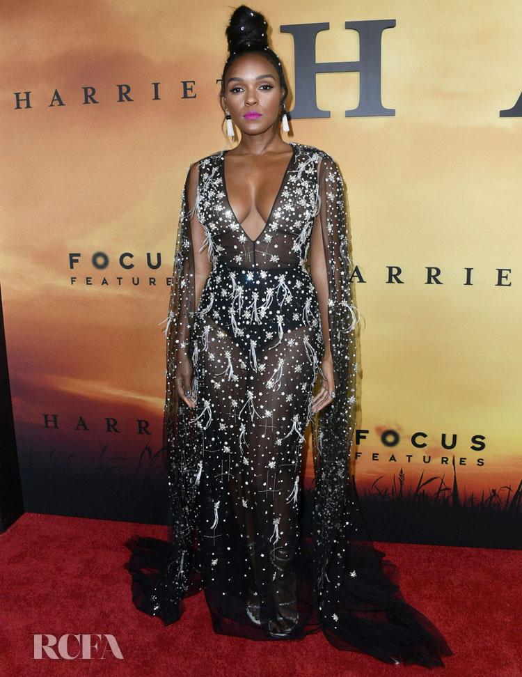 Janelle Monáe Goes Sheer In Honayda For The 'Harriet' LA Premiere