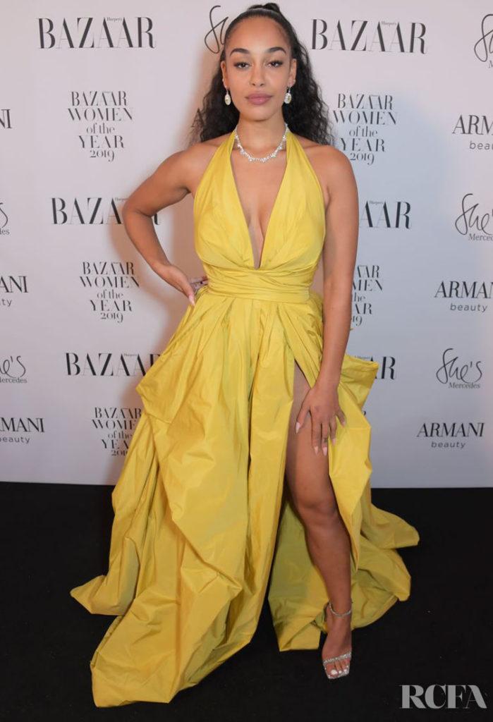 Jorja Smith's Mellow Yellow Zuhair Murad Gown For The 2019 Harper's Bazaar Women of the Year Awards