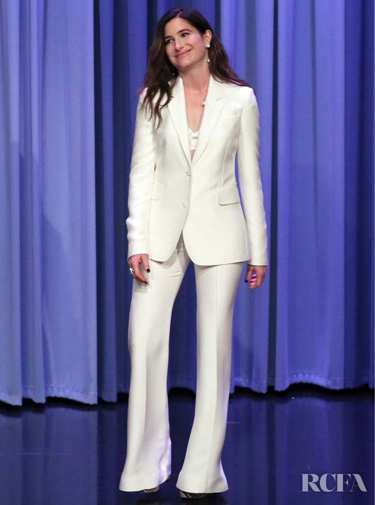 Kathryn Hahn's Bright White  Gabriela Hearst For The Tonight Show Starring Jimmy Fallon