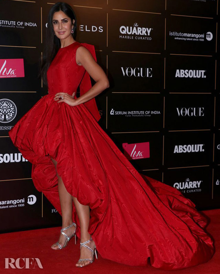 Katrina Kaif's High Low Ballgown For The Vogue Women Of The Year Awards 2019