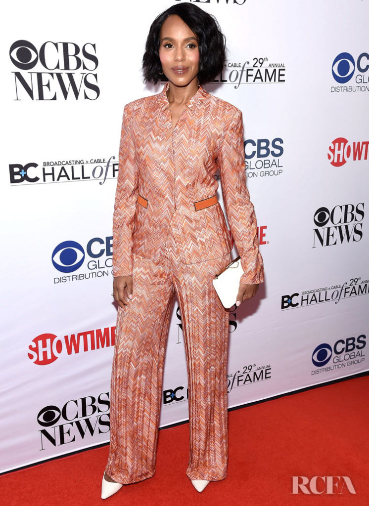 Kerry Washington Zig a Zag Missoni Suit For The Broadcasting & Cable Hall of Fame Awards Anniversary Gala