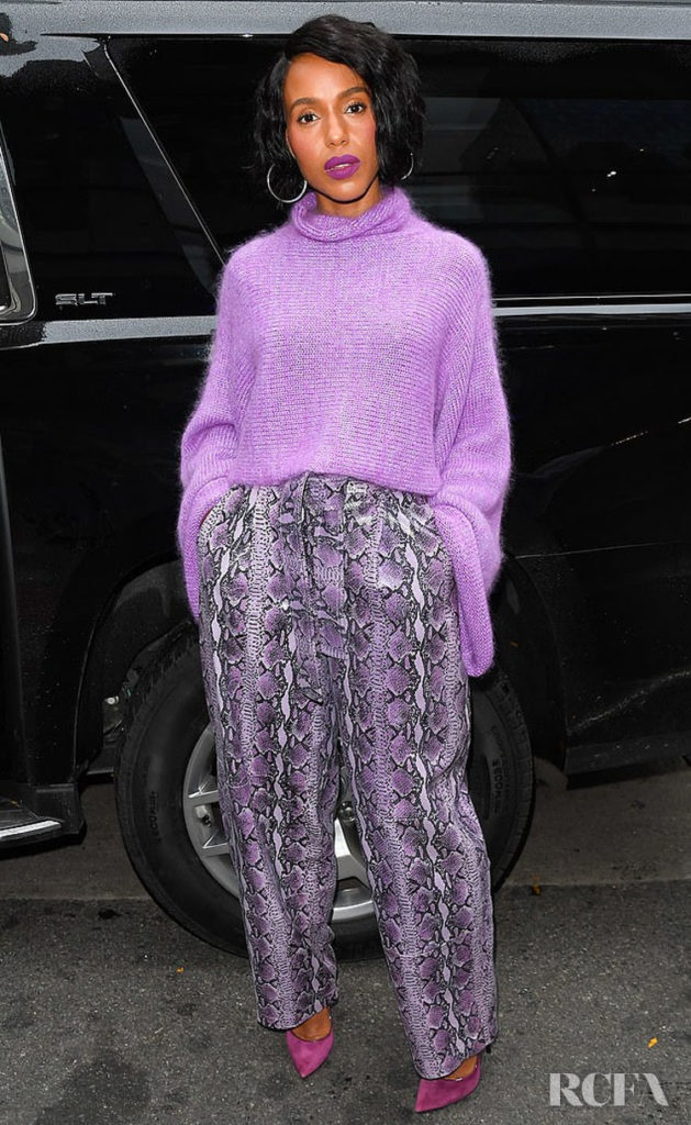 Kerry Washington's Purple Patch For The Today Show