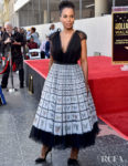 Kerry Washington, Whimsical In Butterflies For  The Hollywood Walk Of Fame Tribute To Tyler Perry