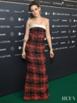 Kristen Stewart Rocks Plaid Chanel Haute Couture For The 'Seberg' Zurich Film Festival Premiere