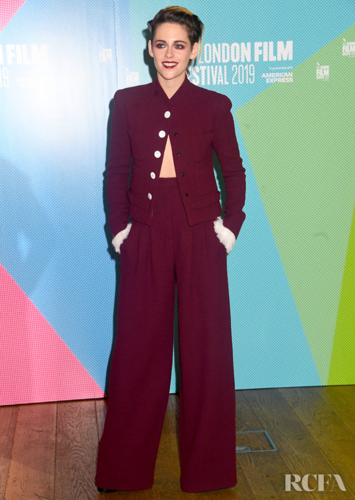Kristen Stewart's Chanel Haute Couture Suiting For The 'Seberg' London Film Festival Premiere