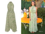 Lea Michele's AMUR Bibi Pleated Dress