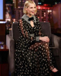 Lucy Boynton Mixes Polka Dots & Gingham On Jimmy Kimmel Live!