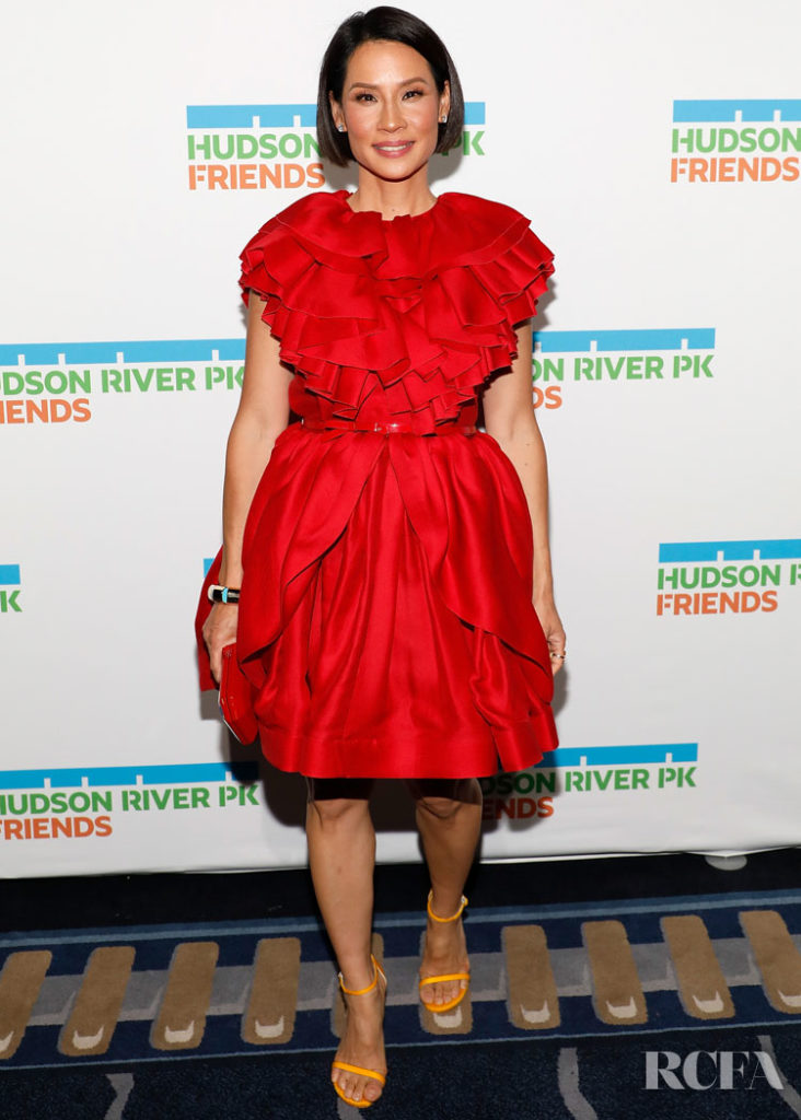 Lucy Liu Is A Lady In Red Greta Constantine For The 2019 Hudson River Park Gala