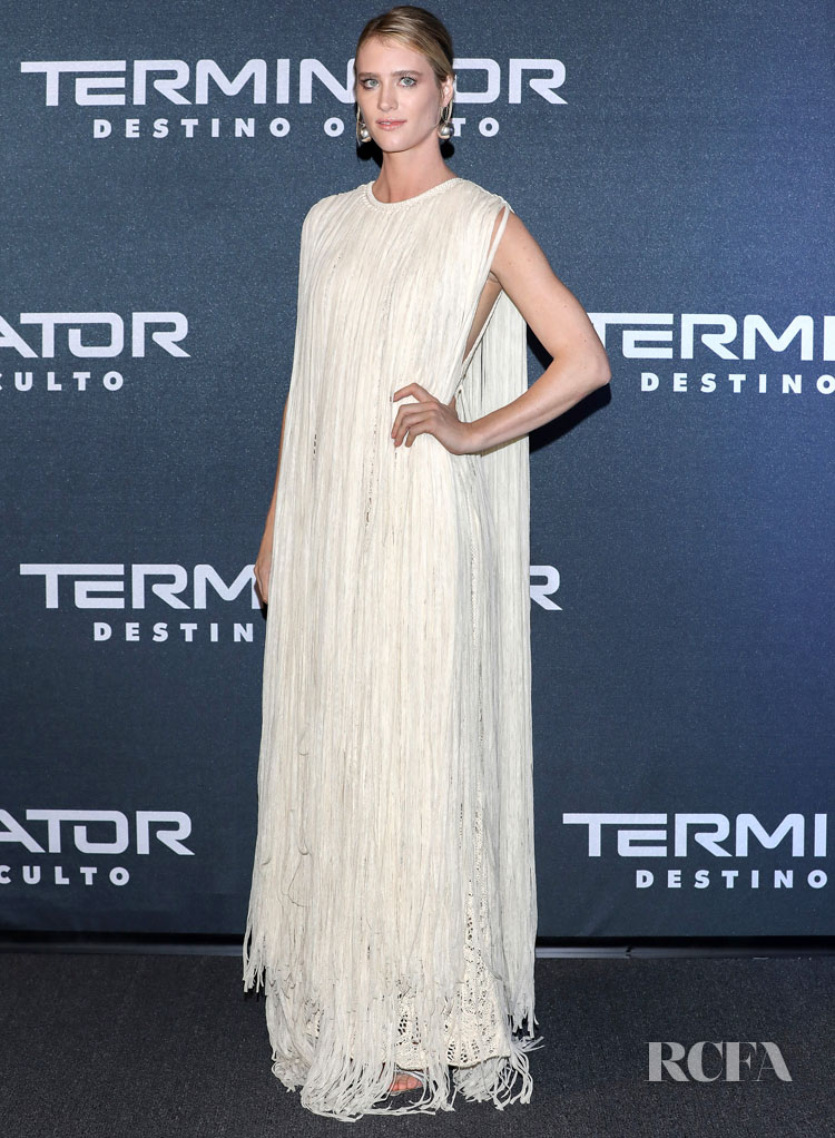 Mackenzie Davis Brings Jil Sander Back To The Red Carpet For The 'Terminator: Dark Fate' Fan Event