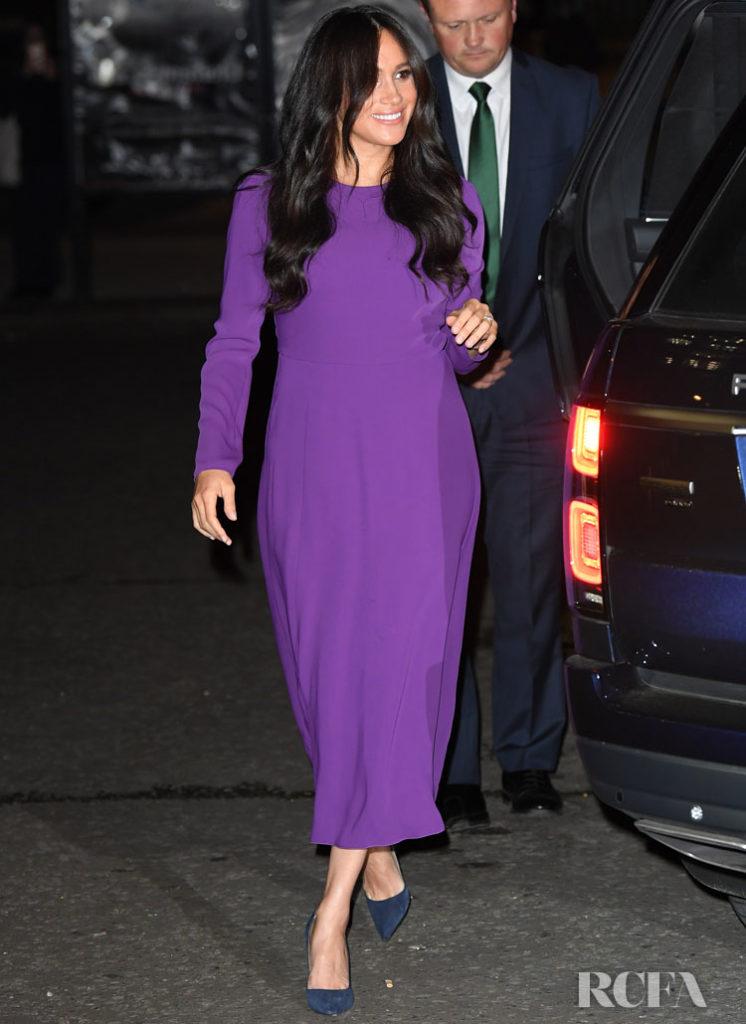 Meghan  Markle purple Aritzia dress