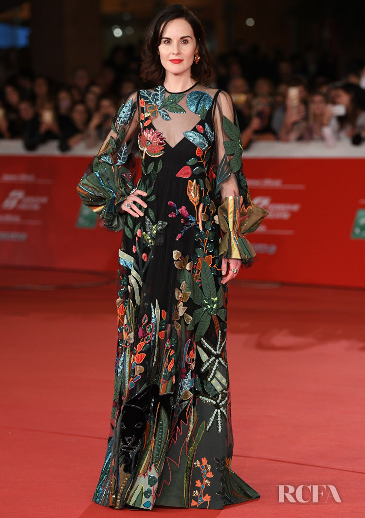 Michelle Dockery Promotes 'Downton Abbey' During Rome Film Festival With Two Looks