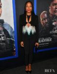 Naomie Harris In Black David Koma For The 'Black and Blue' Atlanta Screening