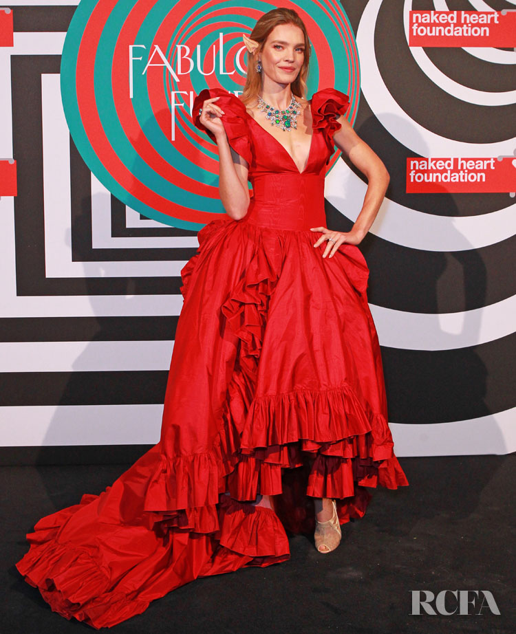 Natalia Vodianova Was In Signature Red For Her Annual Naked Heart Foundation's Fund Fair