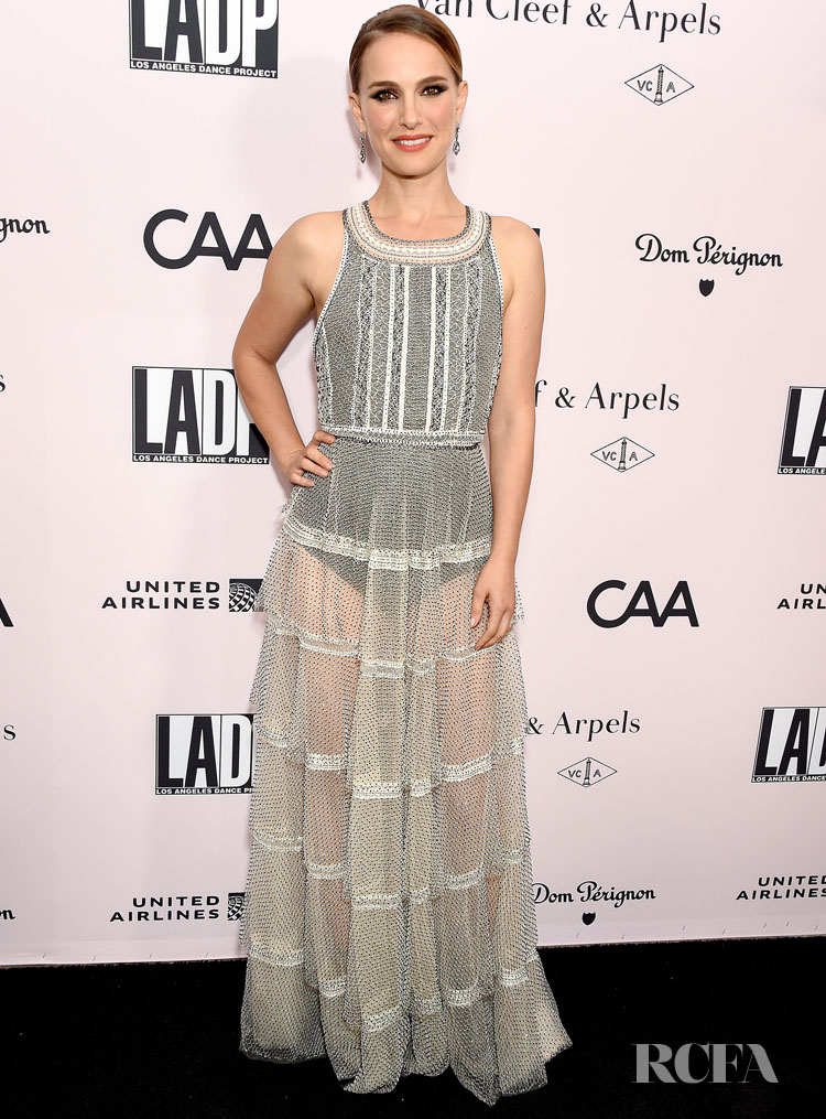 Natalie Portman Wears Dior For The L.A. Dance Project Annual Gala