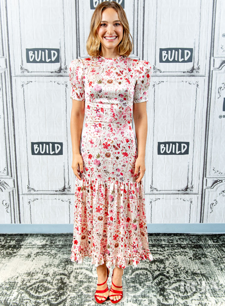 Natalie Portman's Ditsy, Meadow-Style For The 'Lucy In The Sky' Build Series