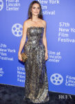 Penelope Cruz, Gilded In Gold Chanel Haute Couture For The 'Wasp Network' New York Film Festival Premiere