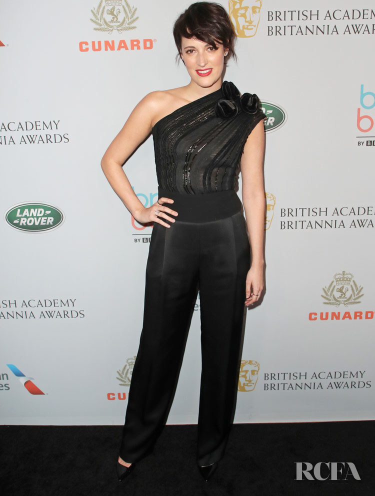 Phoebe Waller-Bridge In Armani - 2019 British Academy Britannia Awards