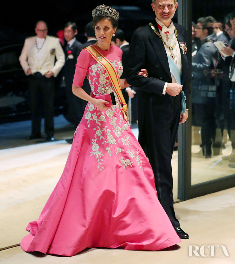 Queen Letizia Takes Center Stage At The Enthronement Ceremony Of Emperor Naruhito