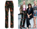 Raffey Cassidy's Paco Rabanne Floral-Print Velvet Trousers