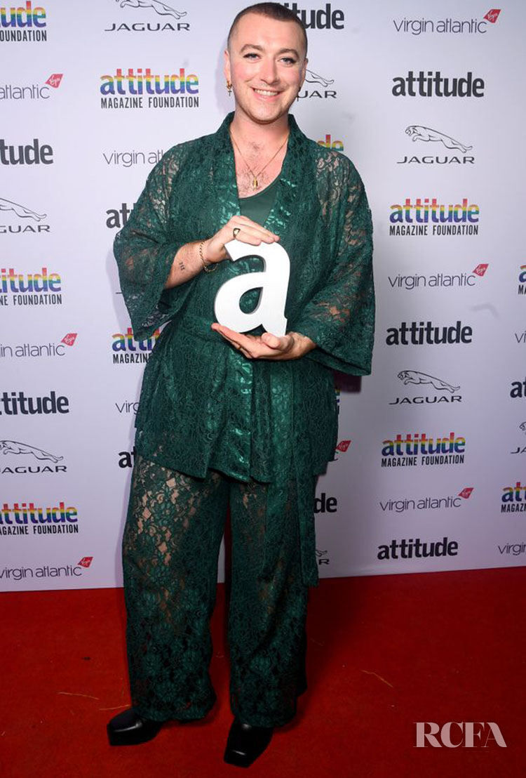 Sam Smith Rocks Lacy Menagerié Intimates At The 2019 Attitude Awards