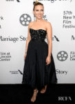 Scarlett Johansson Rocks A Bejeweled Black Jumpsuit To The 'Marriage Story' New York Film Festival Premiere