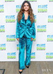 Selena Gomez' Teal Velvet Sies Marjan Suit For The Elvis Duran Z100 Morning Show