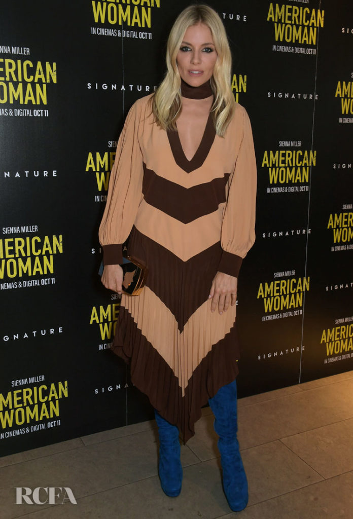 Sienna Miller Rocks A '70s Inspired Look For 'American Woman' London Screening