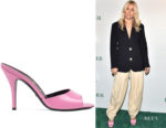 Sienna Miller's Gucci Pink Slip On Sandals