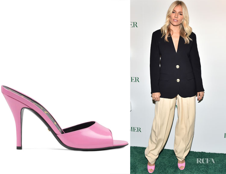 Gucci Pink Slip On Sandals