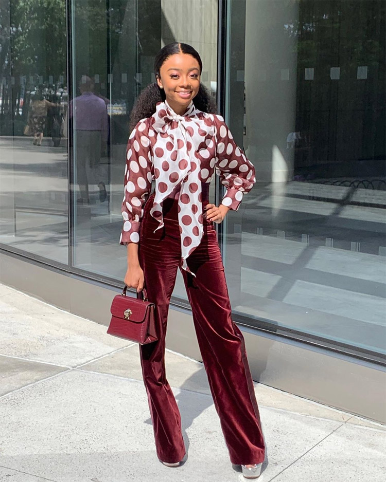 Skai Jackson's Channels That '70s Vibe For Good Morning America