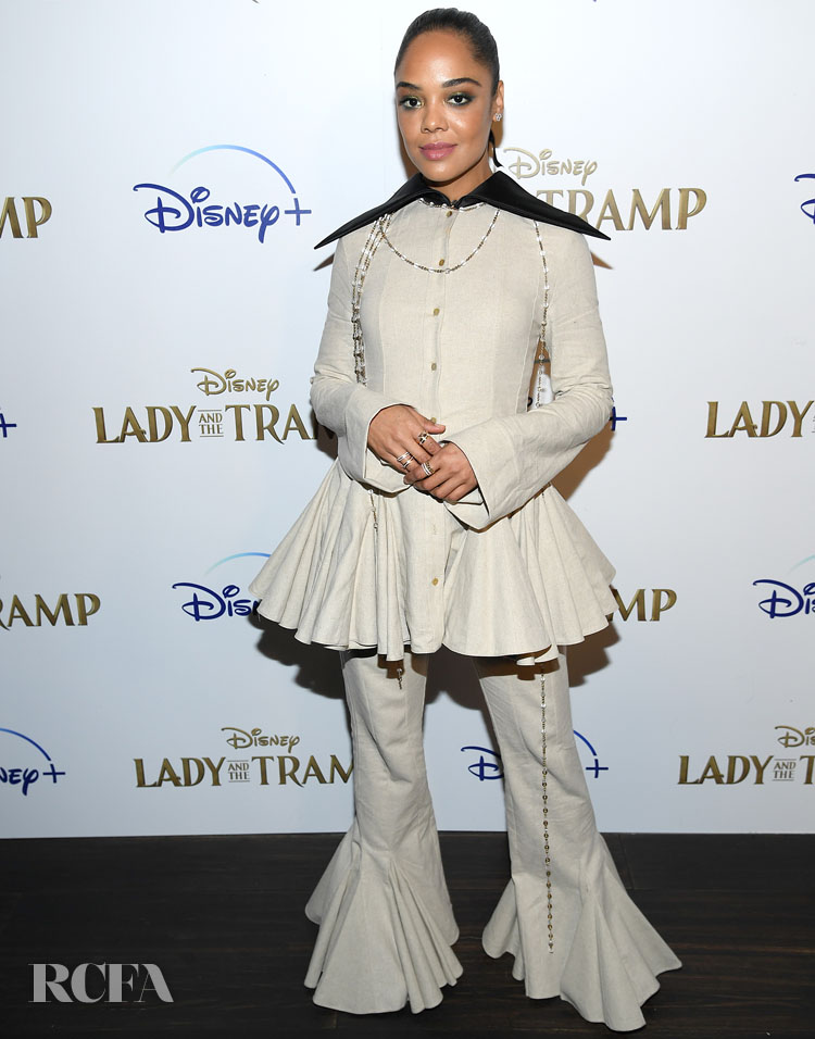 Tessa Thompson's New Style Direction In Loewe For The 'Lady And A Tramp' New York Screening