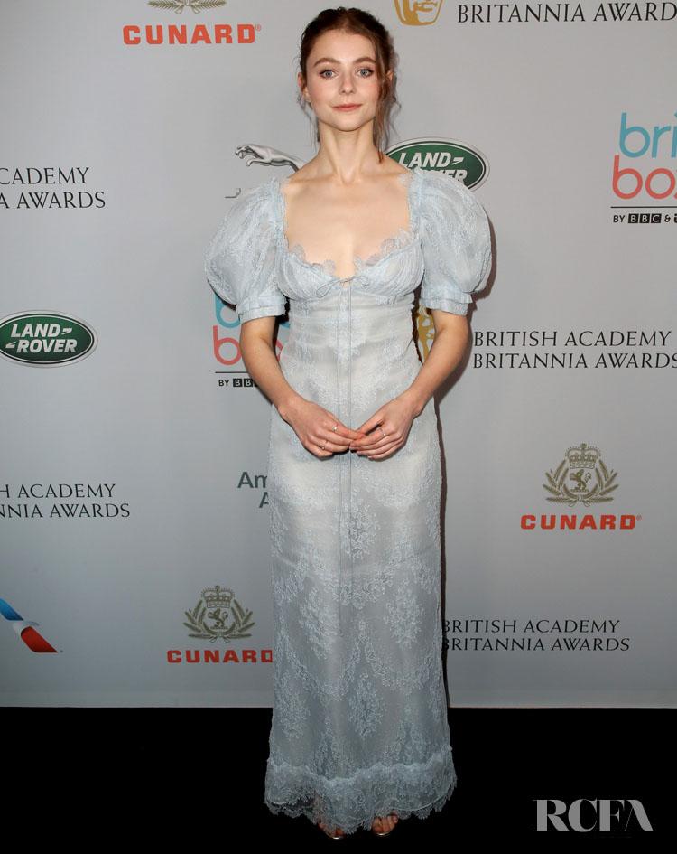 Thomasin McKenzie In Brock Collection - 2019 British Academy Britannia Awards