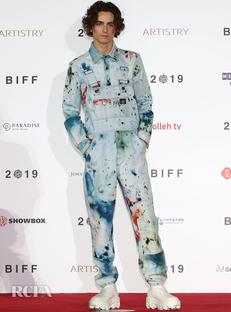 Timothée Chalamet Brings His Unique Style To The 2019 Busan International Film Festival