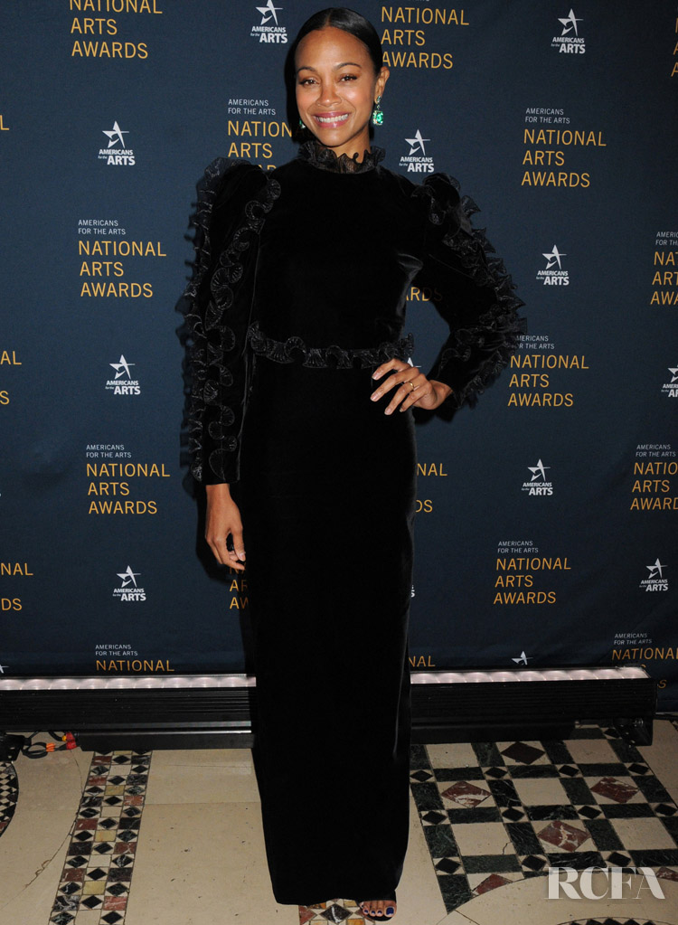 Zoe Saldana Was Back To Black For The 2019 National Arts Awards