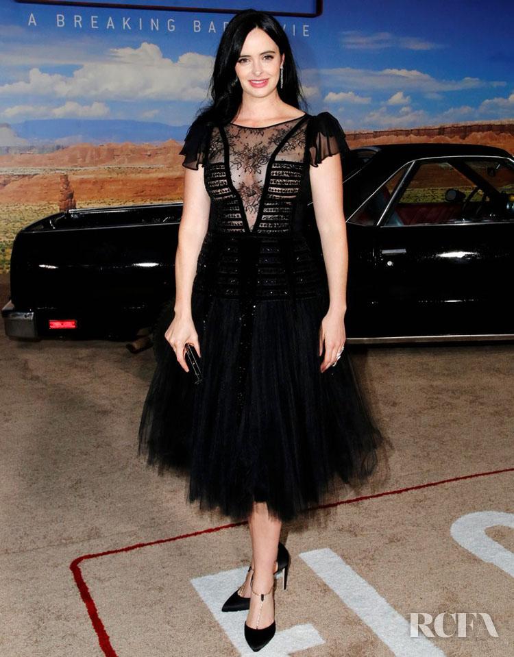 Krysten Ritter in Georges Chakra - Premiere Of Netflix's 'El Camino: A Breaking Bad Movie'