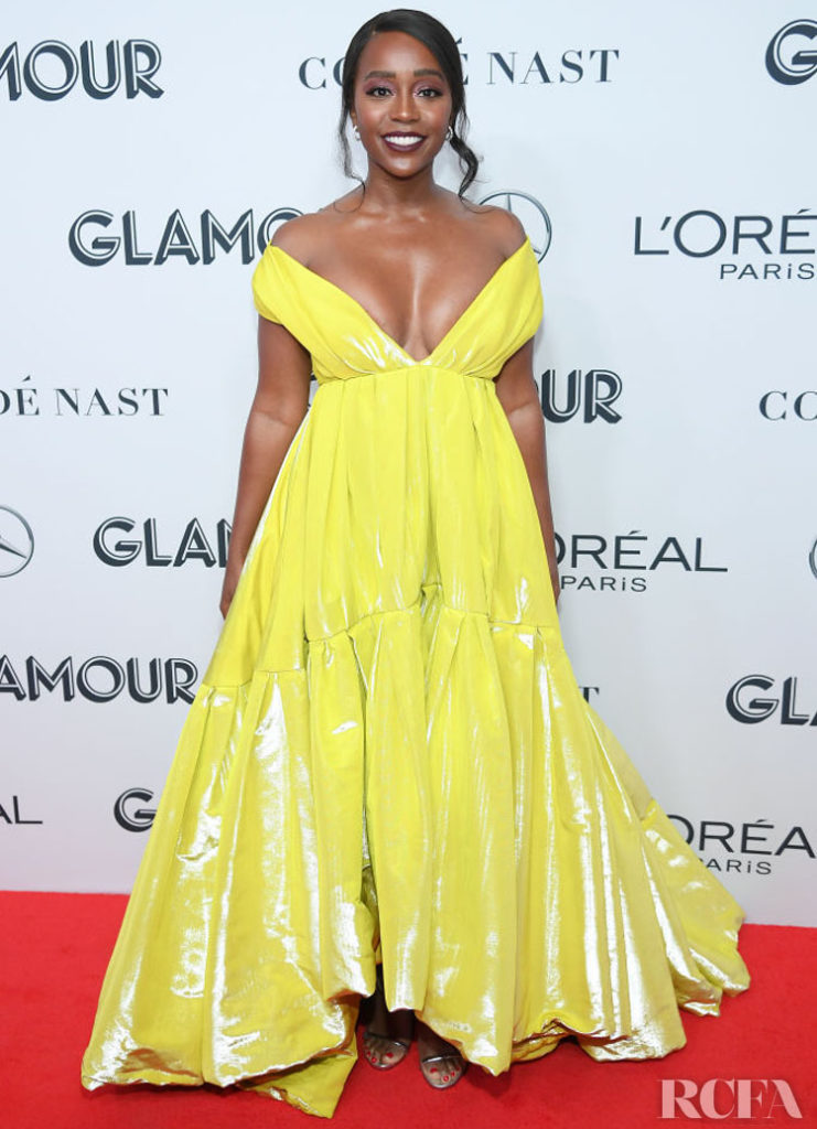 Aja Naomi King's High Shine Moment For The 2019 Glamour Women Of The Year Awards