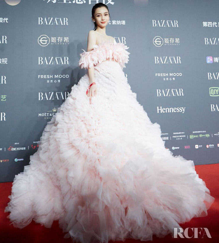 Angelababy's Tons Of Pink Tulle For The 2019 Harper's Bazaar Charity Gala
